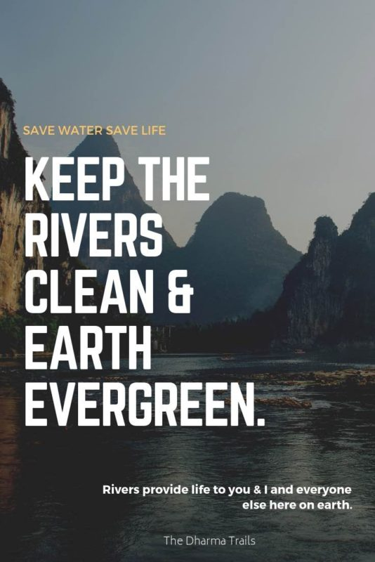 21 Amazing Slogans on Saving Water (With Images) | The Dharma Trails